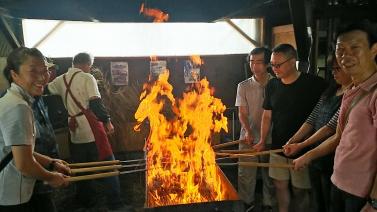 藁焼き道場1