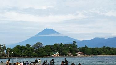 台風17号富士山