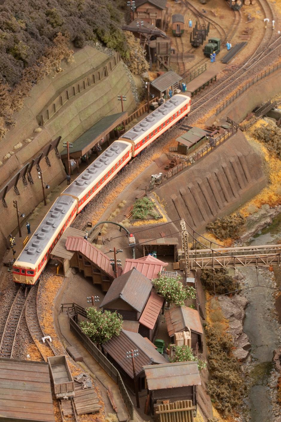 鉄道模型モジュール 1500masa 渓谷