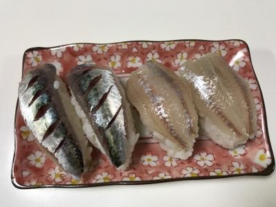 ムツとゴマサバの握り寿司
