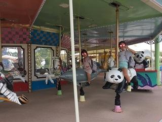パンダのメリーゴーランド
