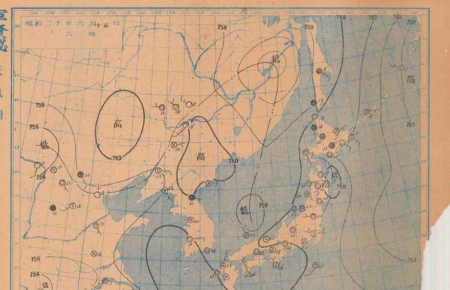 19450815天気図