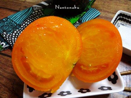 NANTONAKU 07ー17 オレンジ色のトマトはしっかりした実でなかなか美味しいのでした2