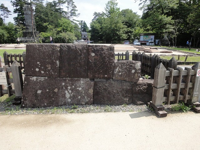 本丸北壁の石垣モデル
