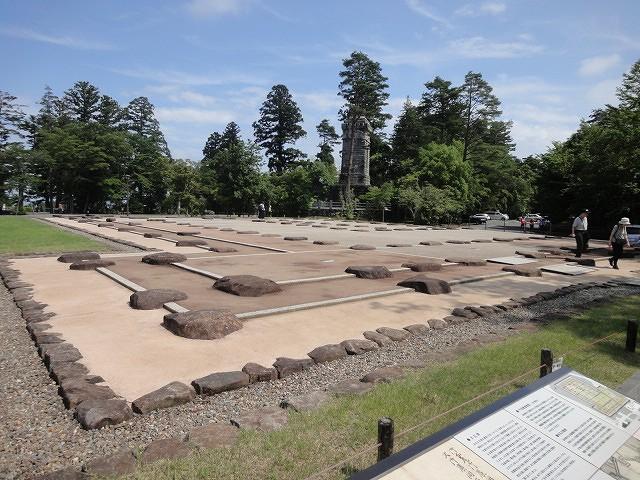 仙台城本丸大広間跡 遺構表示
