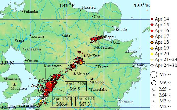 雨が降っているときには大地震が起きないの