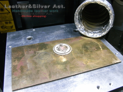 シルバー オーダーコンチョ レーザー彫刻