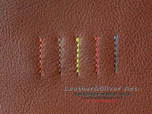 オーダーメイド カードケース 手縫い糸