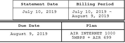 Billing Aug 9 2019