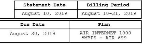 billing august 30 2019