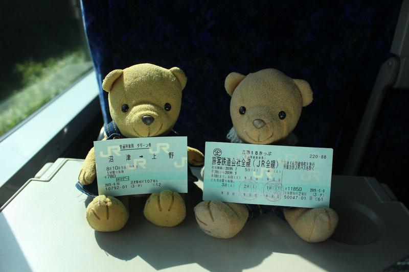 IMG_3753 青春18きっぷと普通車グリーン券(沼津→上野) 190810・800×533・画質8