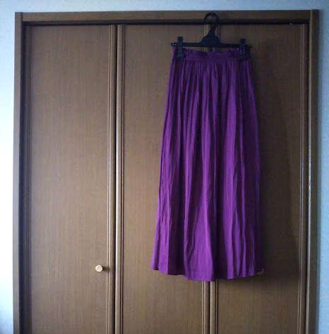 PLSTエアリーマキシスカート1