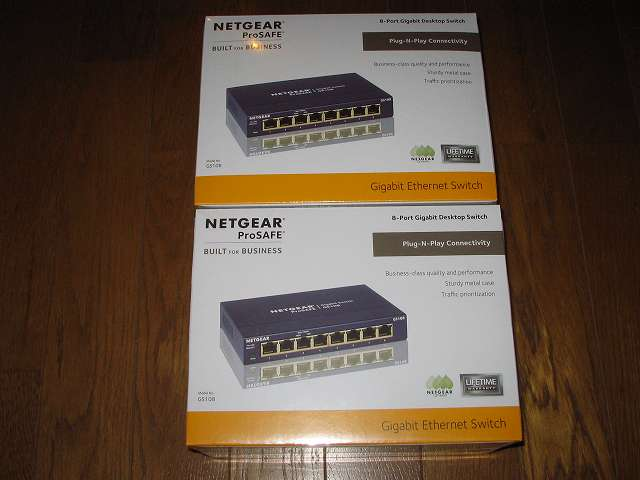 NETGEAR GS108-400JPS(GS108v4) 2個購入