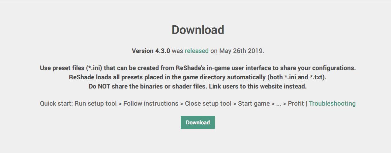 PC ゲーム Borderlands GOTY Enhanced ゲームプレイ最適化メモ、ReShade 4.3.0 設定