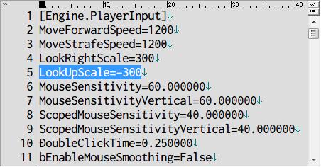 PC ゲーム Borderlands GOTY Enhanced ゲームプレイ最適化メモ、マウス感度改善方法、%USERPROFILE%\Documents\My Games\Borderlands Game of the Year\WillowGame\Config フォルダにある WillowInput.ini ファイルを開き、5行目の LookUpScale を -250 から -300 に変更