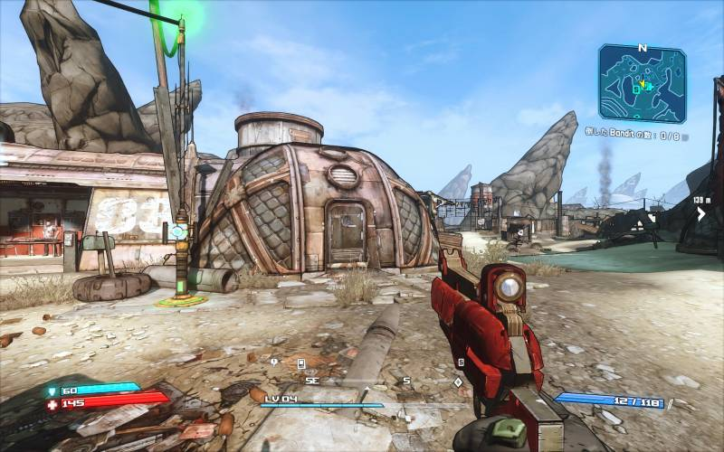 PC ゲーム Borderlands GOTY Enhanced ゲームプレイ最適化メモ、ReShade 4.3.0 プリセット Borderlands Enhanced Color(FXAA オフ、DoF オフ)