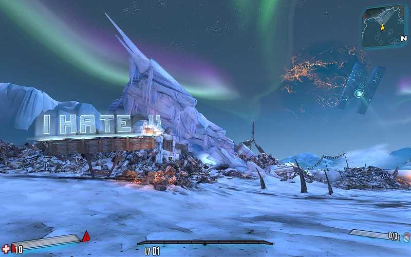 PC ゲーム Borderlands 2 GOTY ゲームプレイ最適化メモ、ReShade 4.3.0 プリセットなし、スクリーンショット(DoF オフ)