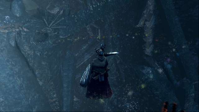 PC 版 DARK SOULS with ARTORIAS OF THE ABYSS EDITION(Prepare To Die Edition) DSfix スクリーンショット、エリア 結晶洞穴(Crystal Cave) 透明橋