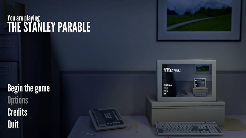 PC ゲーム The Stanley Parable 日本語化メモ、日本語化ファイルインストール後、ゲームを起動して Options を開き、Closed Captioning を Full Captions に変更