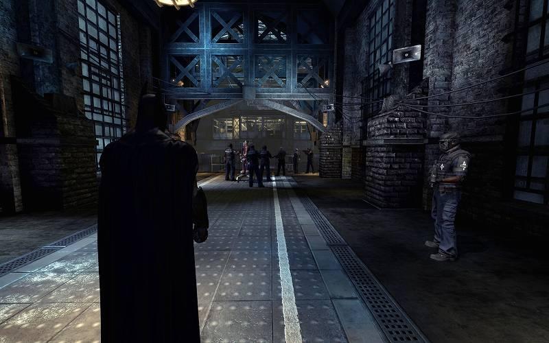 PC ゲーム Batman: Arkham Asylum GOTY Edition 日本語化とゲームプレイ最適化メモ、FOV 変更&HUD 非表示方法、FOV 100 変更後のスクリーンショット