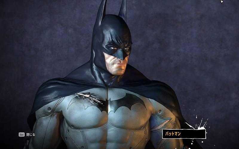 PC ゲーム Batman: Arkham Asylum GOTY Edition 日本語化とゲームプレイ最適化メモ、HD Texture Pack 導入、BmEngine.ini DoF 無効化、デフォルトバットマンテクスチャスクリーンショット