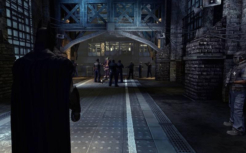 PC ゲーム Batman: Arkham Asylum GOTY Edition 日本語化とゲームプレイ最適化メモ、FOV 変更&HUD 非表示方法、デフォルト FOV スクリーンショット