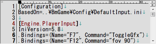 PC ゲーム Batman: Arkham Asylum GOTY Edition 日本語化とゲームプレイ最適化メモ、FOV 変更&HUD 非表示方法、%USERPROFILE%\Documents\Square Enix\Batman Arkham Asylum GOTY\BmGame\Config フォルダにある UserInput.ini を開き、[Engine.PlayerInput] セクションに FOV 変更キーバインドと HUD 表示・非表示キーバインド追加