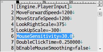 PC ゲーム Batman: Arkham Asylum GOTY Edition 日本語化とゲームプレイ最適化メモ、マウス感度変更方法、%USERPROFILE%\Documents\Square Enix\Batman Arkham Asylum GOTY\BmGame\Config フォルダにある BmInput.ini を開き、6行目にある MouseSensitivity の値(デフォルト値 30.0)を変更