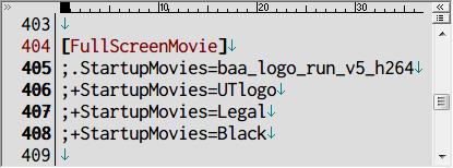 PC ゲーム Batman: Arkham Asylum GOTY Edition 日本語化とゲームプレイ最適化メモ、起動ロゴスキップ方法、インストール先 BmGame\Config フォルダにある DefaultEngine.ini を開き、[FullScreenMovie] セクションにある StartupMovies の記述がある個所の行頭にセミコロン(;)を入れてコメントアウトする