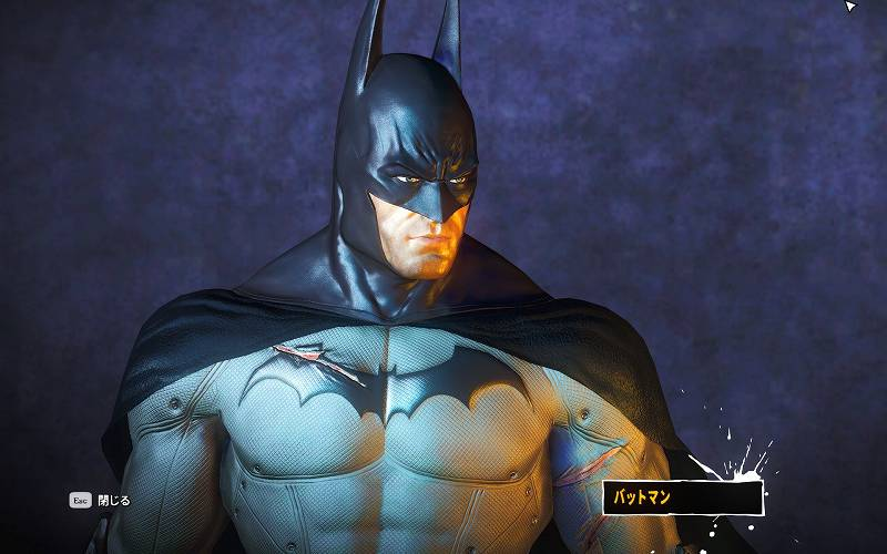 PC ゲーム Batman: Arkham Asylum GOTY Edition 日本語化とゲームプレイ最適化メモ、HD Texture Pack 導入、BmEngine.ini DoF 無効化、TexMod で Asylum - Cape Velvet.tpf + Asylum - Updated Batman Lossless.tpf テクスチャファイル適用、ReShade Presets V3 MAIN.ini MultiLUT.fx Neutral スクリーンショット