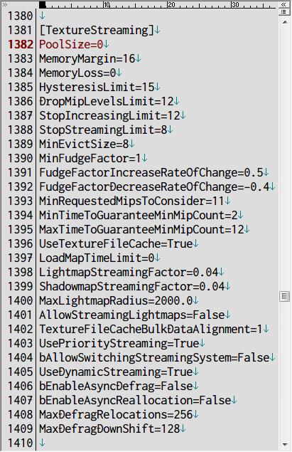 PC ゲーム Batman: Arkham City GOTY Edition 日本語化とゲームプレイ最適化メモ、HD テクスチャパック用設定、%USERPROFILE%\Documents\WB Games\Batman Arkham City GOTY\BmGame\Config フォルダにある BmEngine.ini を開き、[TextureStreaming] セクションにある Poolsize の値を 0 もしくは 2048~4096 に設定