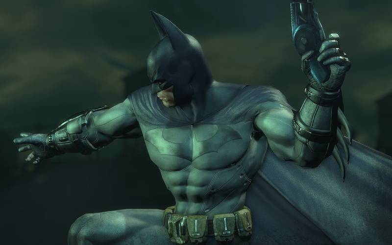 PC ゲーム Batman: Arkham City GOTY Edition 日本語化とゲームプレイ最適化メモ、HD Texture Pack 導入、デフォルトバットマンテクスチャスクリーンショット