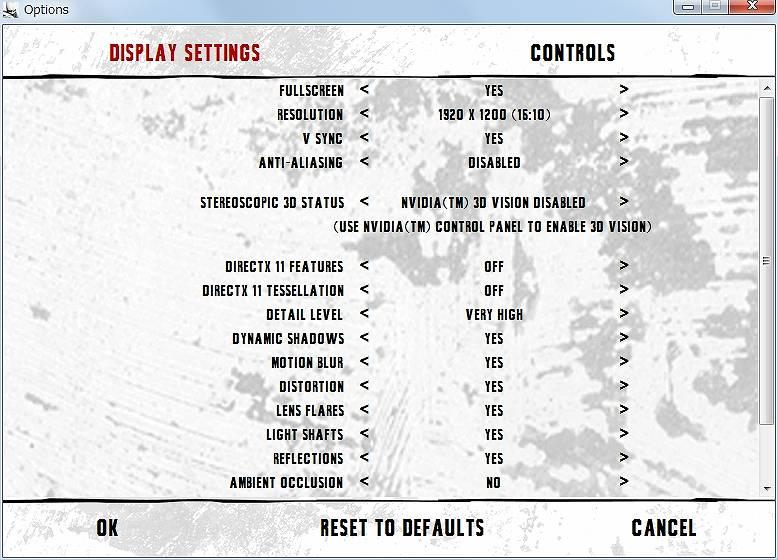 PC ゲーム Batman: Arkham City GOTY Edition 日本語化とゲームプレイ最適化メモ、HD テクスチャパック用設定、ランチャー画面ディスプレイ設定(英語)、ANTI-ALIASING - DISABLED、DIRECTX11 FEATURES - OFF、DIRECTX11 TESSELLATION - OFF、AMBIENT OCCLUSION - NO