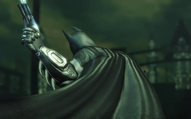 PC ゲーム Batman: Arkham City GOTY Edition 日本語化とゲームプレイ最適化メモ、HD Texture Pack 導入、TexMod で Arkham City - Texture Pack V5 - Cape - Velvet.tpf + Remastered Suit.tpf テクスチャファイル適用、スクリーンショット