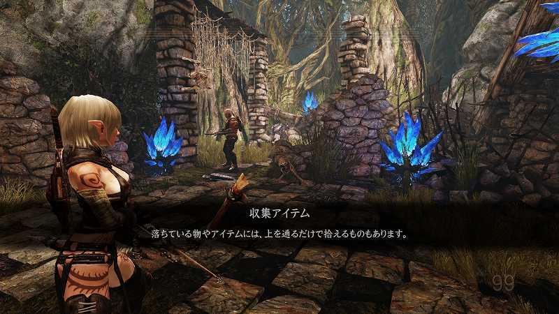 PC ゲーム Hunted: The Demon's Forge 日本語化メモ、キーボード・マウス操作チュートリアル日本語修正ファイル差し替え後のスクリーンショット