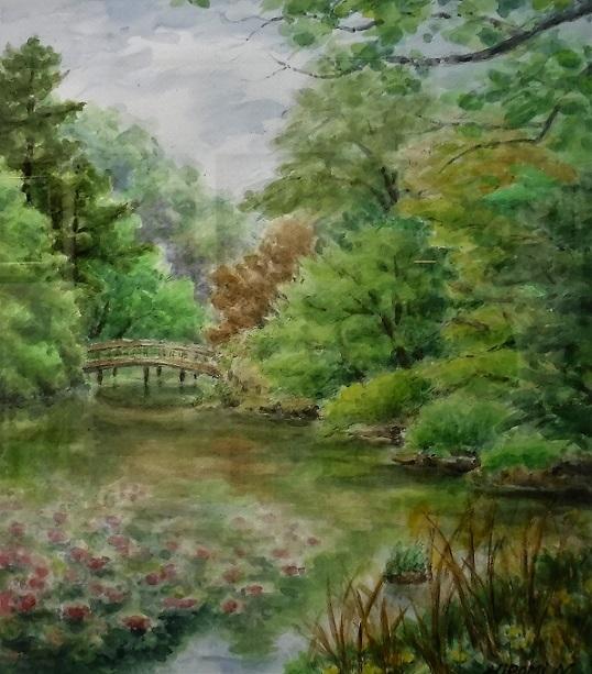『三宝寺池の春』 西村弘美
