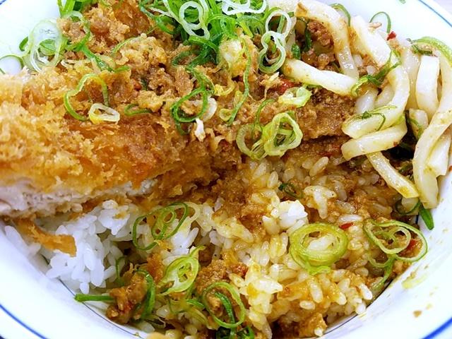 カレーうどんチキンカツ丼1-6