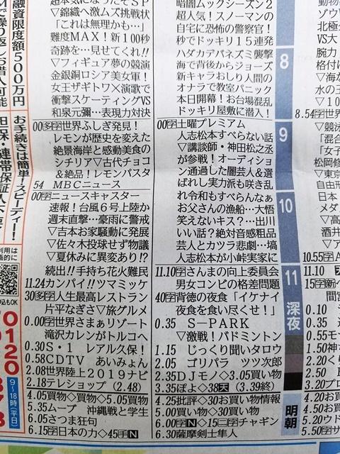 芸人 テレビ欄1-1