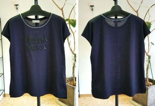 ネイビーキラロゴTシャツ2