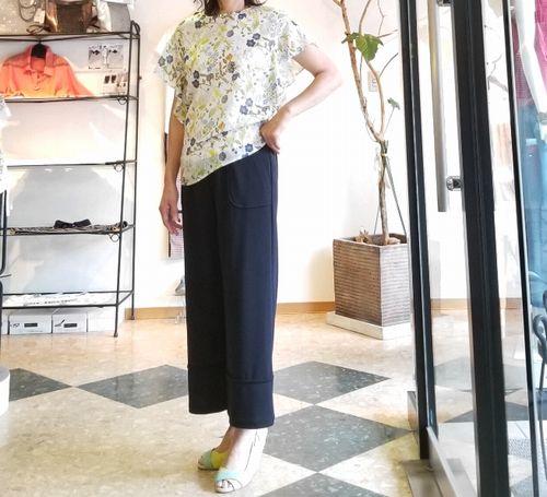 リバティフレンチ衿ぐり身幅袖1a