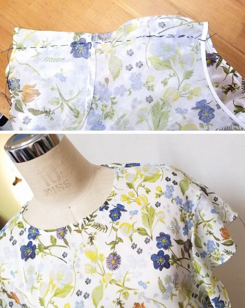 リバティフレンチ衿ぐり身幅袖5