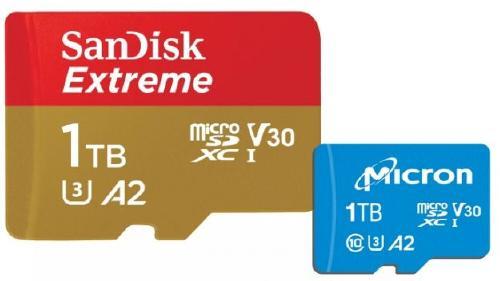 サンディスクとMicronが発表した容量1TBのmicroSDカード
