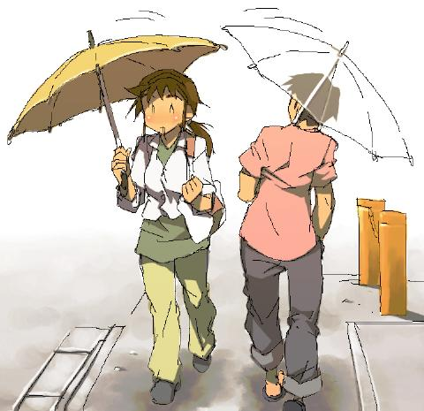 傘のすれ違い現代