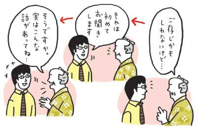 Edo話法で話を切り出すと会話が弾む
