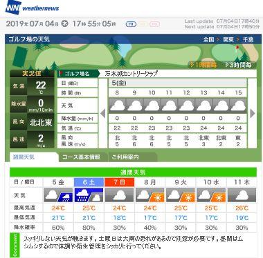万木城天気W