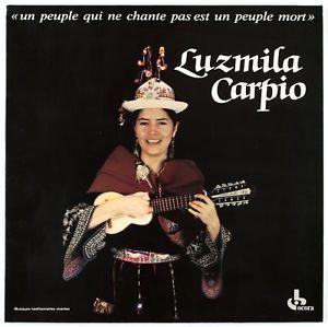 Luzmila Carpio un people qui ne chante pas est un people mort