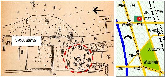 高蔵貝塚マップ