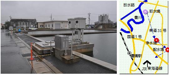 豊橋浄水場マップ