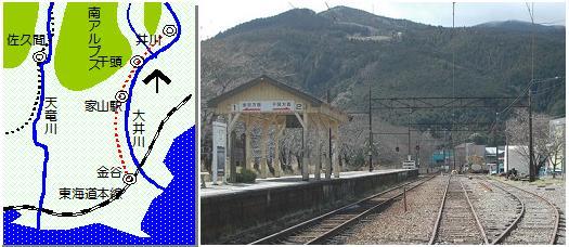 金谷駅マップ