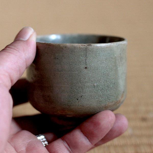 高麗青磁筒茶碗